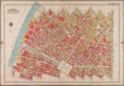Plate 10: [Bounded by Metropolitan Ave., Kent Ave., N. Third St., Wythe Ave., N. Fifth St., Berry St., N. Seventh St., Bedford Ave., N. Ninth St., Driggs Ave., N. 10th St., Roebling St., Union Ave., S. Second St., Hooper St., S. Third St., Keap St., S. Fourth St., Rodney St., S. 5th St., Marcy Ave., Broadway, S. Roebling St., S. Ninth St., Bedford Ave., S. Tenth St., Berry St., S. 11th St., Kent Ave. & River St.]; Atlas of the borough of Brooklyn, city of New York: from actual surveys and official plans by George W. and Walter S. Bromley.