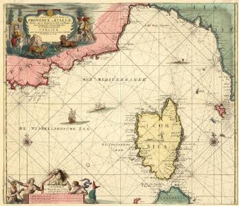 Nieuwe Paskaert van de Zee Kusten van Provence en Italiae