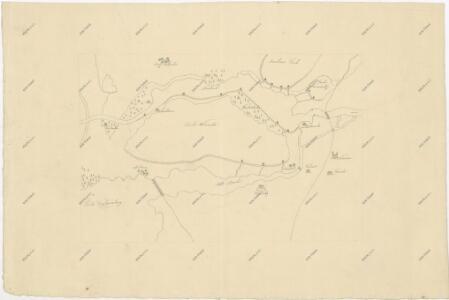 Mapa části povodí Nové Řeky a rybníka Vdovec