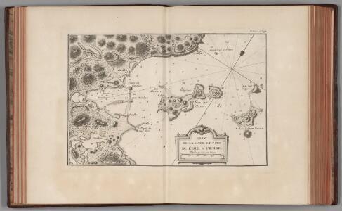 Plan de la rade et port de l'Isle St. Pierre