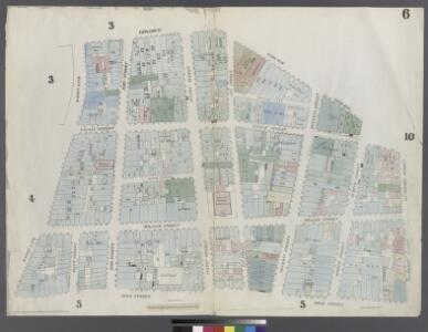 [Plate 6: Map bounded by City Hall Square, Frankfort Street, Gold Street, Maiden Lane, Broadway, Park Row]