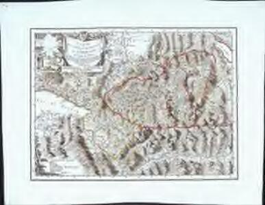 Carte de la partie occidentale de l'Oberland au canton de Berne