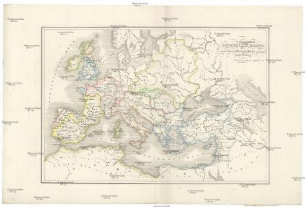 Uebersichts-Karte der nach der Völkerwanderung entstandenen neuen Reiche