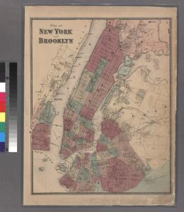 Plate 6: Plan of New York and Brooklyn.