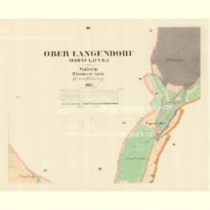 Ober Langendorf (Hornj Laucka) - m0774-1-002 - Kaiserpflichtexemplar der Landkarten des stabilen Katasters