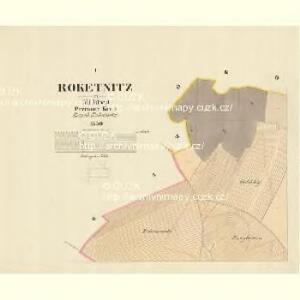 Roketnitz - m2592-1-001 - Kaiserpflichtexemplar der Landkarten des stabilen Katasters