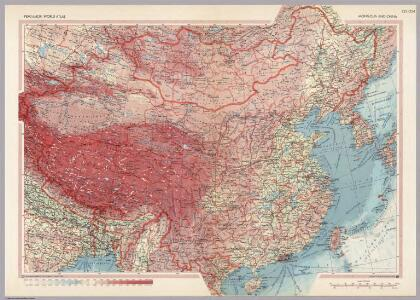 Mongolia and China.  Pergamon World Atlas.