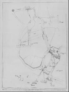 From a Plan, circa 1590, of the area lying east of St. Katharine's Hospital--now St. Katharine's Dock.