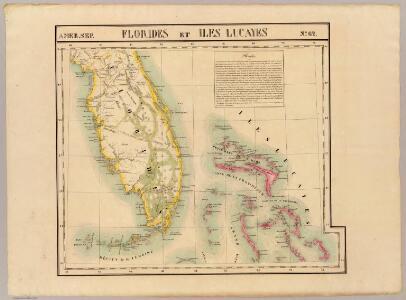 Florides et Iles Lucayes. Amer. Sep. 62.