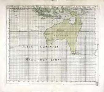 Carte marine des isles merid.les des Indes Orient.les et de la Nouv.e Hollande