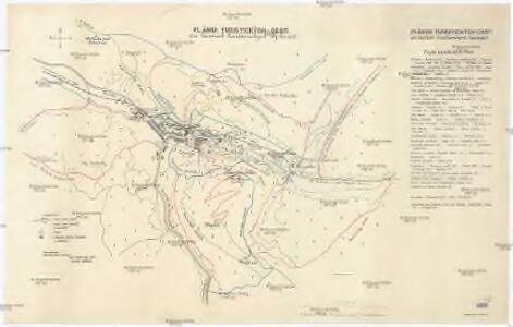 Plánok turistických cest pri lázňoch Trenčianských Tepliciách