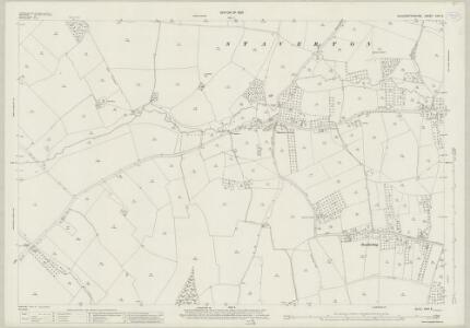 Gloucestershire XXVI.5 (includes: Badgeworth; Churchdown; Down Hatherley; Staverton) - 25 Inch Map