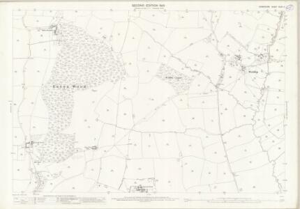 Derbyshire XLVII.11 (includes: Doveridge; Marston Montgomery) - 25 Inch Map