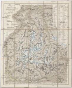 Uebersichtskarte des Oetzthaler Gletscher-Gebietes