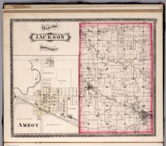 Jackson Township, Miami County, Indiana.  Amboy.