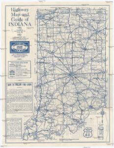 Highway Map and Guide of Indiana