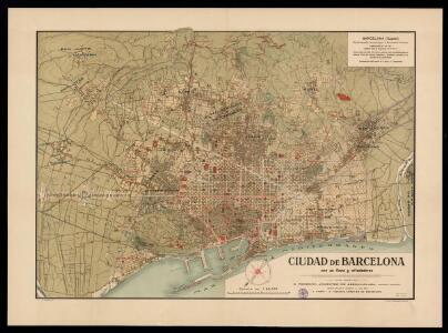 Ciudad de Barcelona con su llano y alrededores / plano trazado por D. Federico Armenter de Aseginolaza, completado y puesto al dia