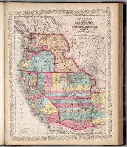 California, Territories of Oregon, Washington, Utah, New Mexico.
