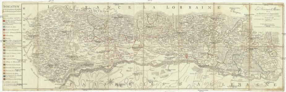 La province d'Alsace divisée en territoires et seigneuries