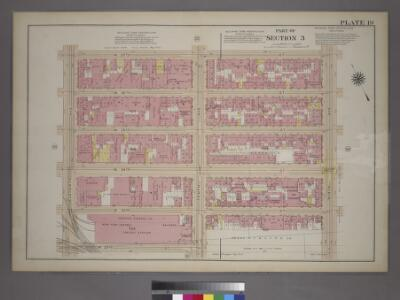 Plate 19, Part of Section 3: [Bounded by (W. 37th Street, Ninth Avenue, W. 32nd Street and Eleventh Avenue.]