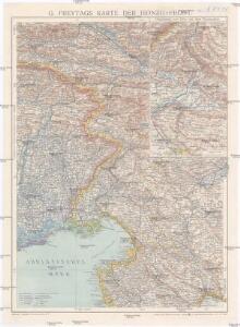 G. Freytags Karte der Isonzo-Front