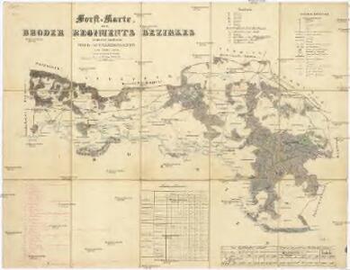 Forst-Karte des Broder Regiments Bezirkes