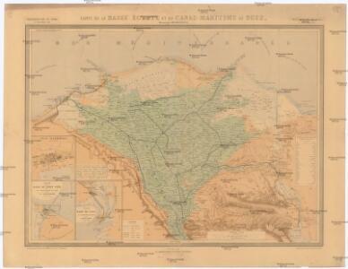 Carte de la Basse, Égypte et du Canal Maritime de Suez