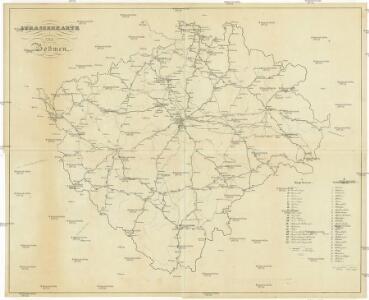 Strassenkarte von Böhmen