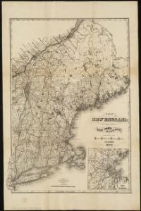 Map of New England, with adjacent portions of New York & Canada