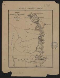 Mission Galliéni 1880-1881. Itinéraire de Mourgoula à Niagassola