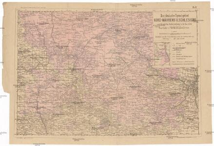 Das deutsche Sprachgebiet Nord-Mährens u. Schlesiens auf Grand der Volkszählung v. 31. Dec. 1880