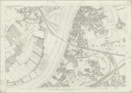 London (First Editions c1850s) LXIV (includes: Battersea; Chelsea; Fulham) - 25 Inch Map