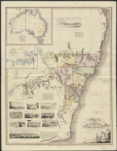 Map of part of New South Wales, embellished with views in the harbour of Port Jackson