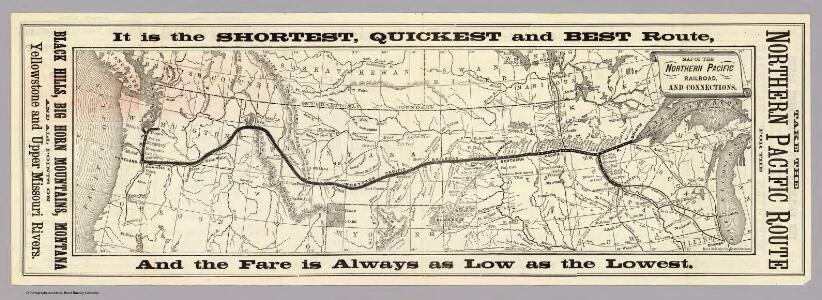 northern pacific railroad map Map Of The Northern Pacific Railroad And Connections northern pacific railroad map