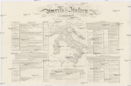 Umriss von Italien zur statistisch politischen Uebersicht des Veränderungen im Revolutions Kriege