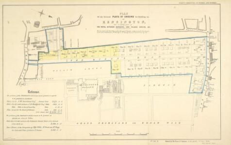 PLAN of the Several PLOTS OF GROUND for Building on at KENSINGTON