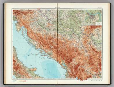 96-97.  Jugoslavia.  (Yugoslavia).  The World Atlas.