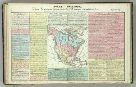 Tableau l'historie de l'Amerique Septenrionales.