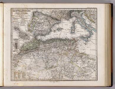Das Mittellandische Meer Und Nord-Afrika.