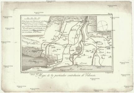 Mapa de la particular contribucion de Valencia