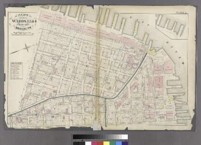 Plate 1: Part of Wards 1, 2, & 4. City of Brooklyn.