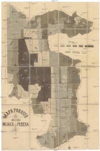 Mapa porostů revírů Mlaka & Paseka