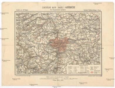 Generální mapa okolí pražského