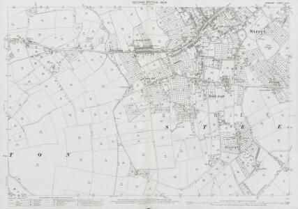 Somerset LII.14 (includes: Street; Walton) - 25 Inch Map