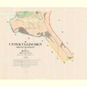 Unter Ullischen (Dolnj Olessne) - m0515-1-003 - Kaiserpflichtexemplar der Landkarten des stabilen Katasters