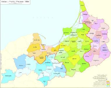 Kreise der Provinz Preußen 1864