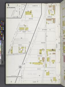 Queens V. 3, Plate No. 9 [Map bounded by Schaeffer Ave., Putnam Ave., Wyckoff Ave., Eldert Ave., Irving Ave.]