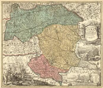 Ducatûs Stiriae Novissima Tabula ex ampliore mappa olim R.Dmi. Georgii Matth. Vischer, S.C.M. Leopoldi I. Glor. Mem. Geographi deducta