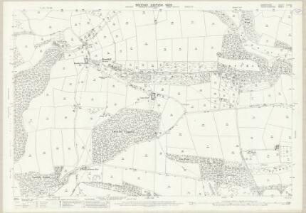 Shropshire LXX.16 (includes: Clungunford; Leintwardine; Onibury; Stokesay) - 25 Inch Map