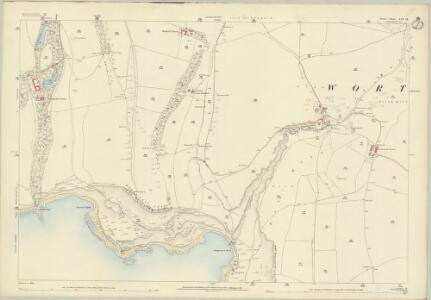 Dorset LVI.14 (includes: Corfe Castle; Worth Matravers) - 25 Inch Map